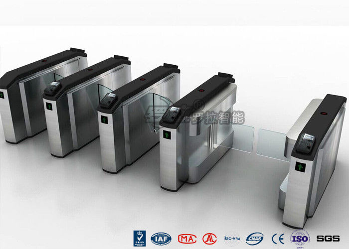Waist High Turnstile Security Systems , Biological Recognition Flap Barrier Gate