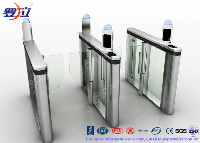 High Speed Gate Turnstile DC Servo Motor Visit Management System For Bank Building