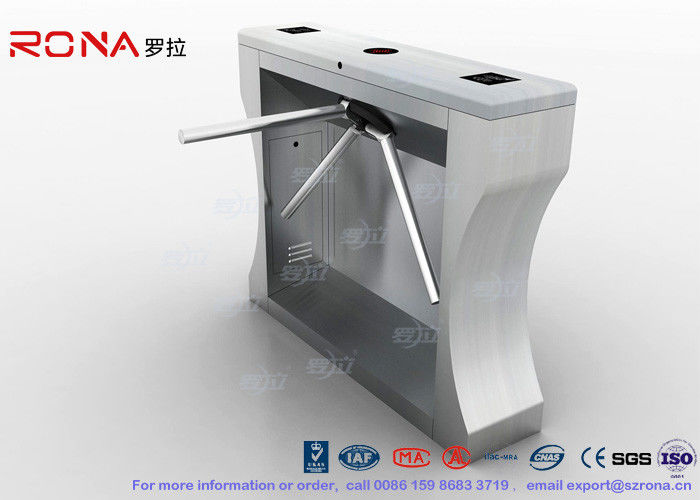 Secure Entrance Control Tripod Turnstile Mechanism 550mm Passage Width One Year Warranty