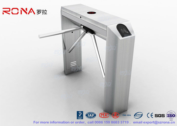 RS485 Access Control Tripod Turnstile Gate , 304 SS Waist Height Turnstile Durable