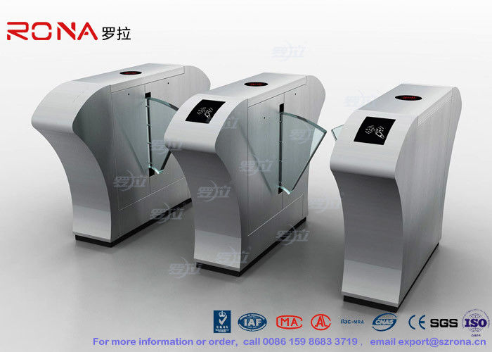 Airport Flap Barrier Gate RFID Interface Waist High Bidirectional Flap Barrier Turnstile