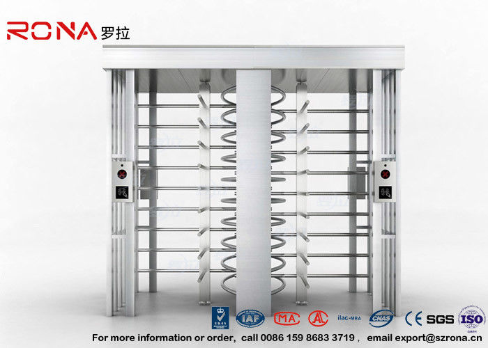 Double Lane Security Controlled Turnstile Security Gates Rapid Identification