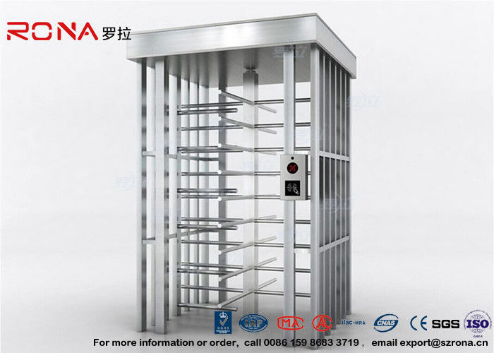 Deluxe Automatic Full Height Turnstile  Pedestrian System Parking Facilities Rotating Gate With 304# Stainless Steel