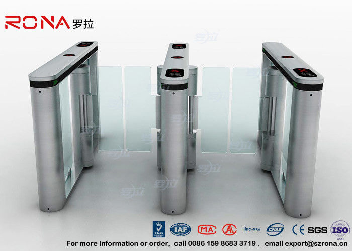 Anti - Collision Walk Through Swing Barrier Gate Bus Station Card Reader System
