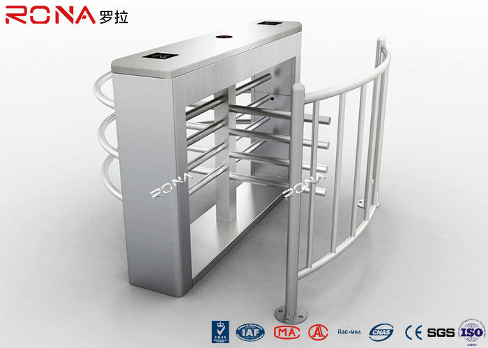 Durable Half Height Turnstiles 30 Person / Min Transit Speed Access Control System