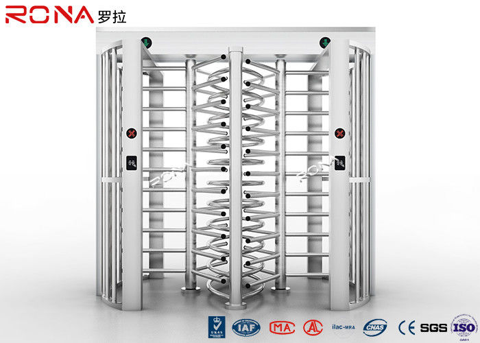 Bi - Directional Full Height Turnstile Revolving Metal Passage Access Control