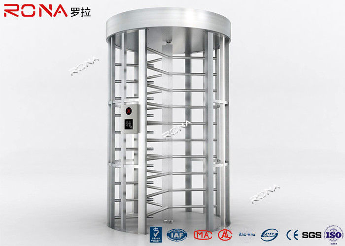 RFID Flexible Pedestrian Turnstile Gate , High Security Turnstile Heavy Duty Steel Frame
