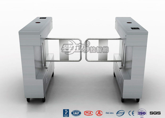 Access Control Swing Gate Turnstile Controlled Acrylic / Tempered Glass Arm Material