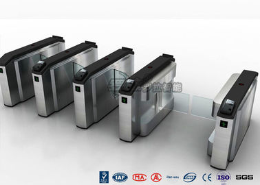 Chiny Waist High Turnstile Security Systems , Biological Recognition Flap Barrier Gate fabryka