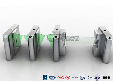 Chiny Stylish Clear Bi - Directional Turnstile Access Control With Swing Panel fabryka