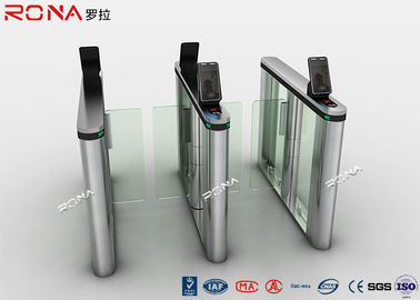 Chiny Akrylowa kontrola dostępu Swing Turnstiles Face Recognition For Business Building fabryka